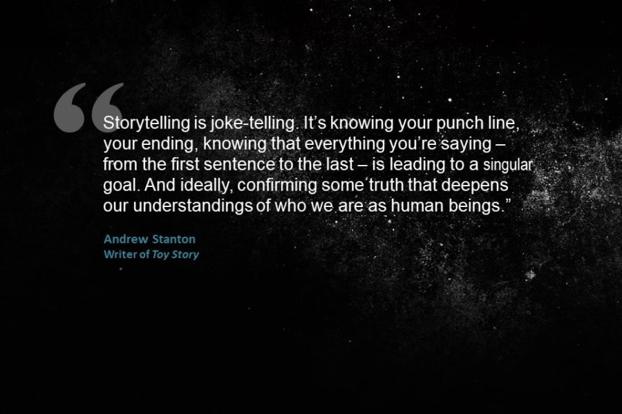 Storytelling quote by Andrew Stanton